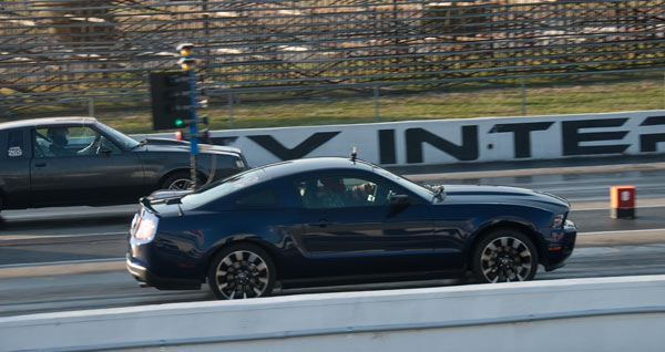 2011 V6 Mustang Stock Drag Run