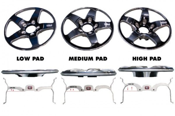 Weld RTS Wheel Pad Hieghts