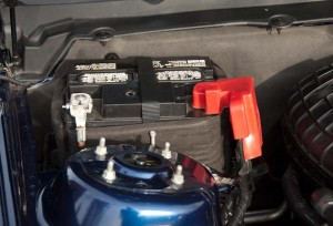 3.7L v6 mustang factory battery location