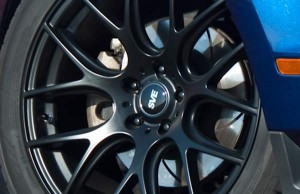 Black Spline Drive Lug Nuts on Wheel