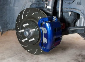 EBC rotor with Painted Caliper
