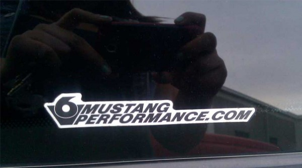 V6 Mustang Performance Sticker