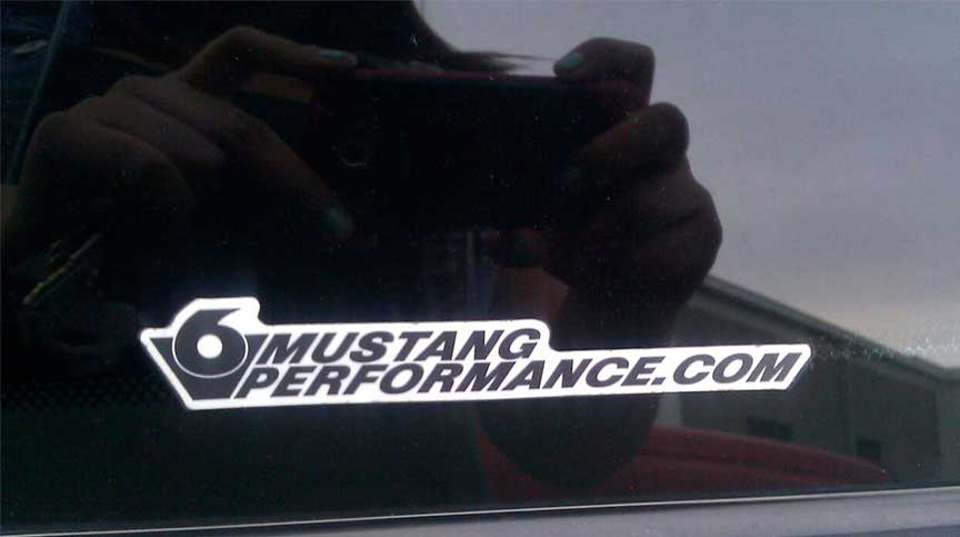 V6 Mustang Performance Car Stickers A 3 7l V6 Mustang Owner