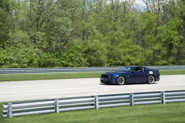 Mustang on Track